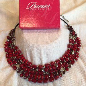 Premier Designs Necklace: Red My Mind